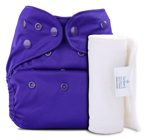 Bumberry Cover Diaper (Purple) + 1 Wet free Insert