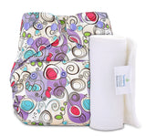 Bumberry Cover Diaper (Viloetta Patterns) + 1 Wet free Insert