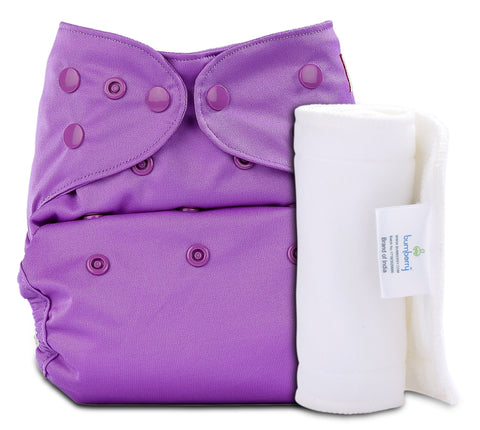 Bumberry Cover Diaper (Violette) + 1 Wet free Insert