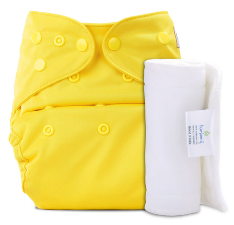Bumberry Cover Diaper (Highlight Yellow) + 1 Wet free Insert