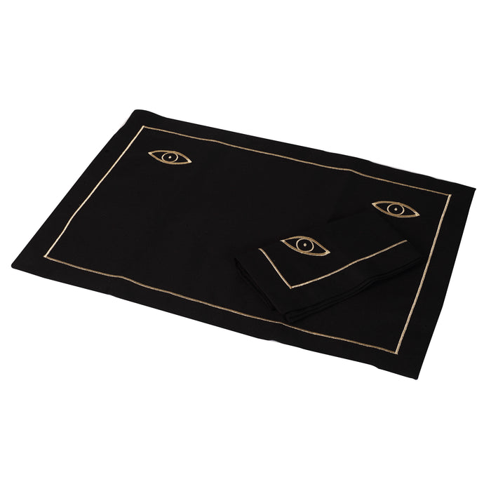 Set de Table & Serviette Oeil 40x60 & rond de serviette