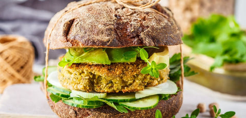Air Fried Chickpea Patties Chickpea Burgers