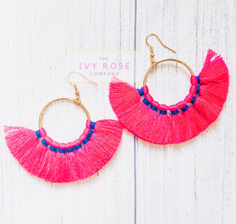 Carly Tassel Earrings