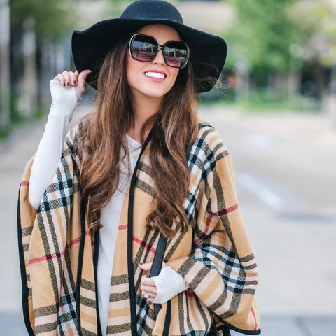 *SOLD OUT* Cashmere Plaid Poncho