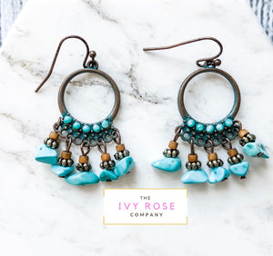 Elaina Turquoise Stone Earrings