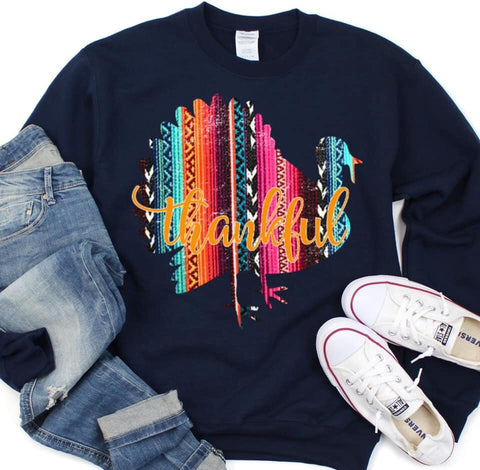 Serape Thankful Sweatshirt