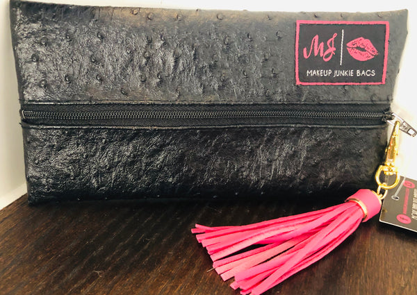 Makeup Junkie Black Ostrich - SOLD OUT