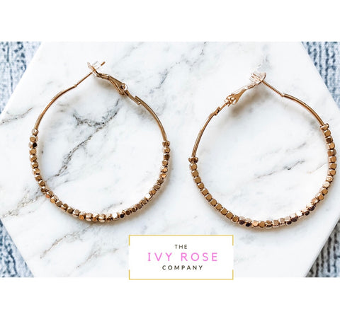 Hailey Hoop Beaded Earrings