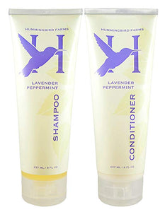 Hummingbird Farms' sulfate-free Lavender Peppermint Shampoo and Conditioner