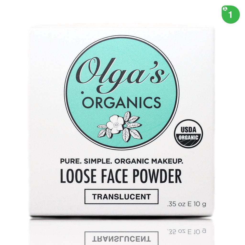 Olga's Organics - USDA Certified Organic Loose Face Powder (Translucent)