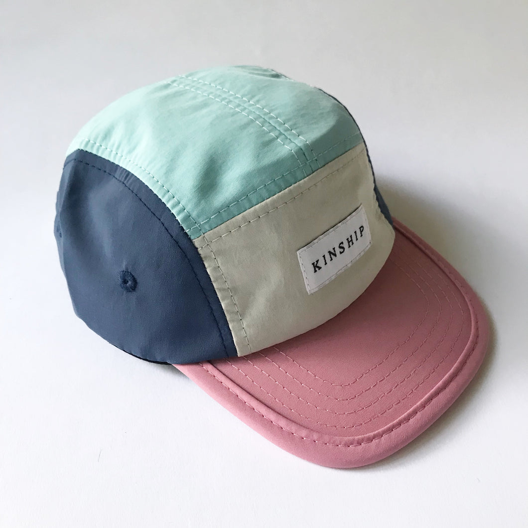 RESTOCKED ✨Pink brim nylon 5-panel / infant