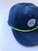 Deep Blue Corduroy pinch 5-panel / kid
