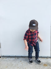 Brown Denim Classic Snapback / toddler