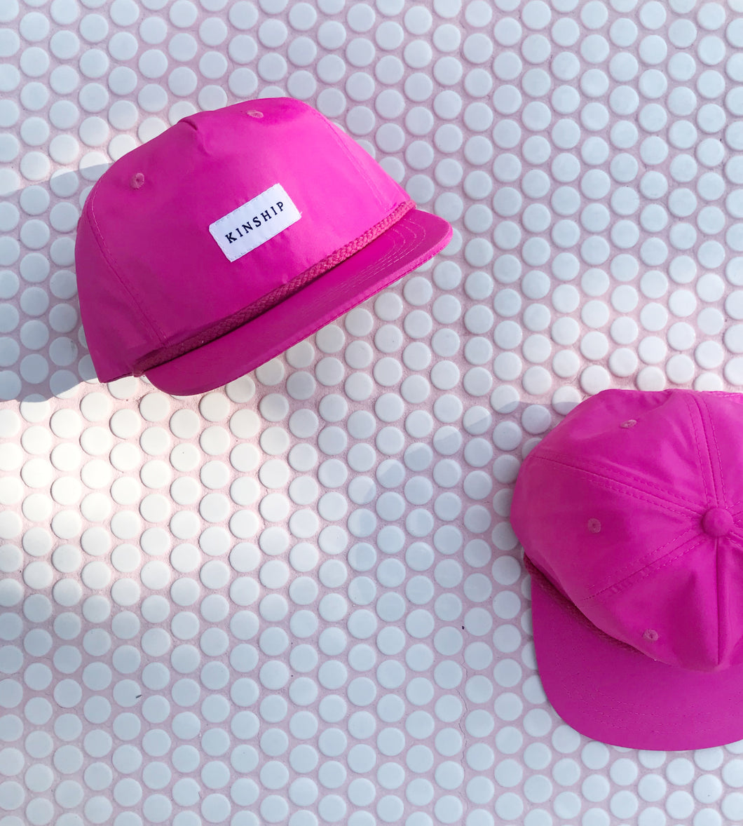 Pink Nylon Pinched 5-panel / Toddler