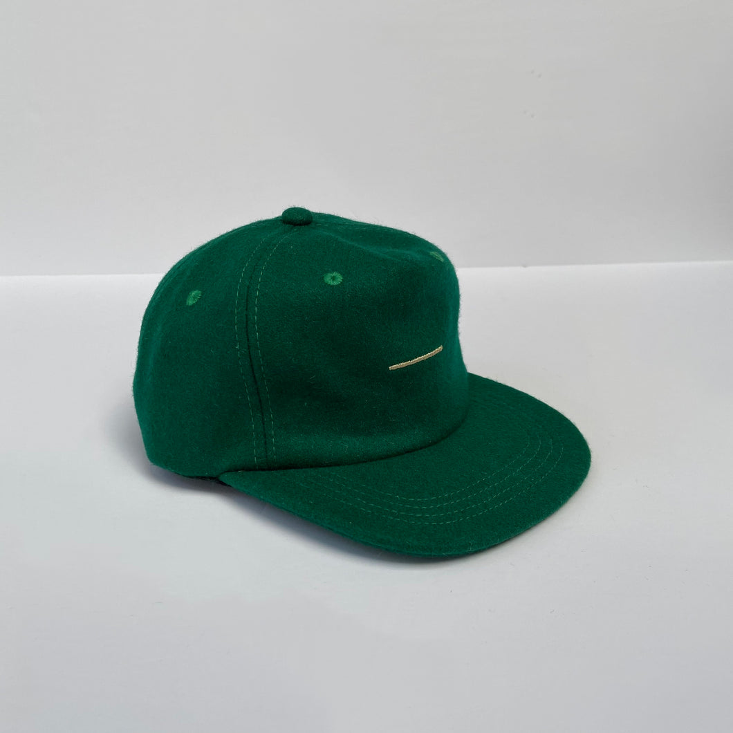 Evergreen wool pinched 5-panel / infant