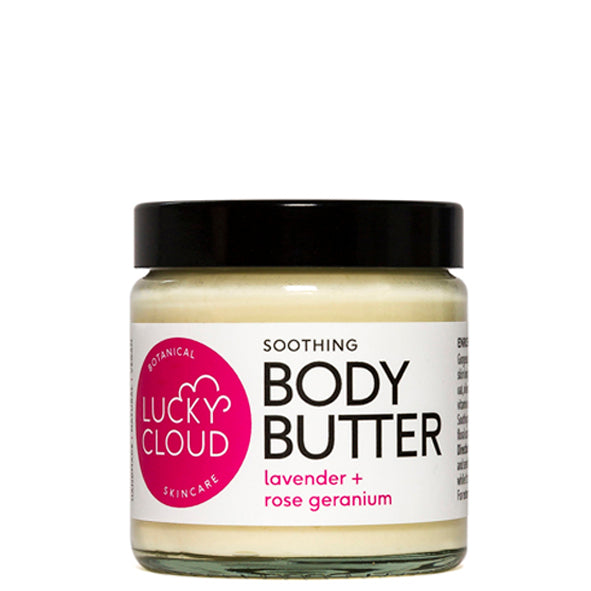 Lucky Cloud Soothing Body Butter Lavender + Rose Geranium 120ml
