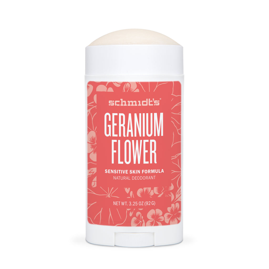 Schmidt's Deodorant GERANIUM FLOWER FOR SENSITIVE SKIN open
