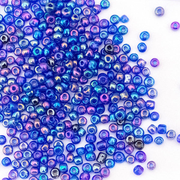 Glass Seed Beads - 6/0 - Dreamy Blue - 25g