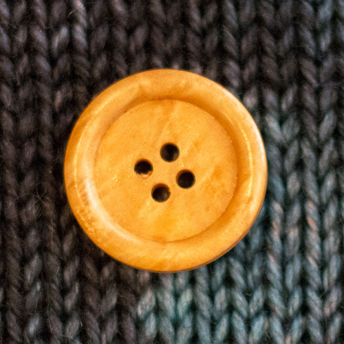 "Light Brown Wood Buttons - 1"" (10 pack)"
