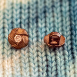 Plastic Metallic Shank Buttons with Rhinestone - 3/8