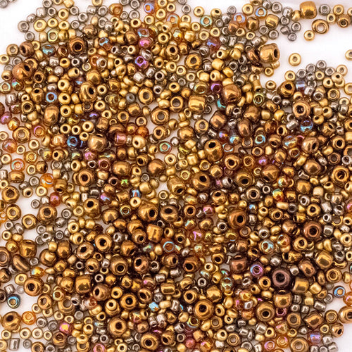 Glass Seed Beads - Mix of 6/0 to 10/0 - Treasure - 25g