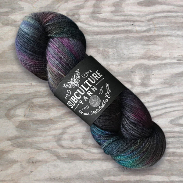 Subculture Yarn Superwash BFL Nylon Fingering - Shady Business