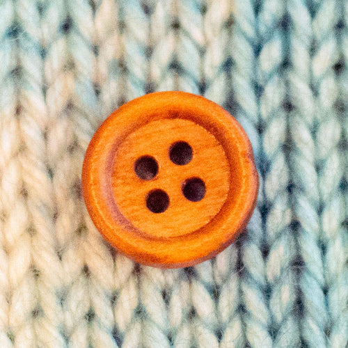 "Medium Brown Wood Buttons - 9/16"" (10 pack)"