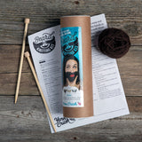 Beard Knitting Kit - Dark Brown