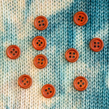 Reddish Brown Wood Buttons - 9/16