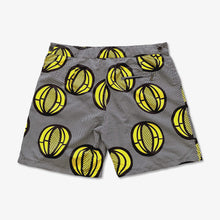 "Load image into Gallery viewer, Patrice 9"" - Mid-Length Tailored Swim Shorts - Melon Black Yellow"