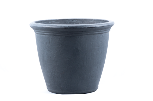 "Premium hand painted garden planter - 16"" Kiri in Rust"
