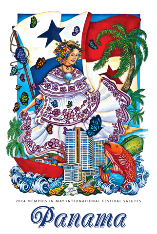 2014 Panama Poster by Bobby Spillman