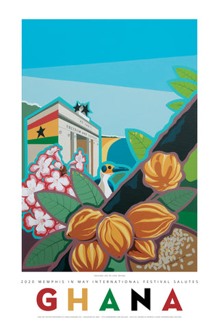 2020 Ghana Poster by Carl Moore - LIMITED EDITION