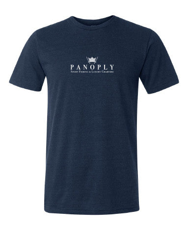 Triblend Logo Tee in Navy