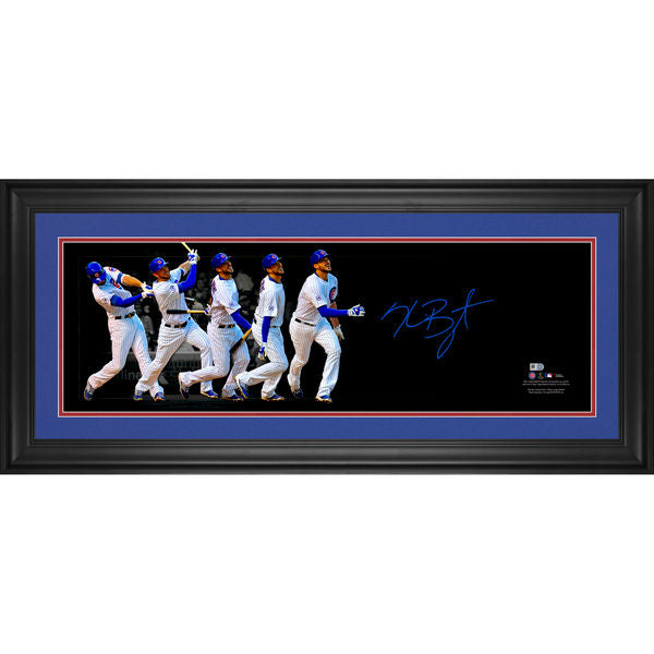 "Kris Bryant Chicago Cubs Framed Autographed 10"" x 30"" Progression Pano"