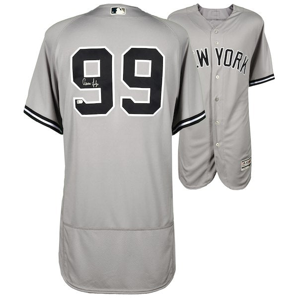 Aaron Judge New York Yankees Autographed Majestic Gray Authentic Jersey
