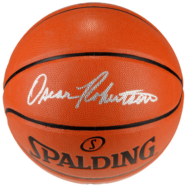 Oscar Robertson Autographed Indoor/Outdoor Spalding Basketball