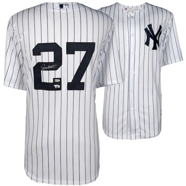 Giancarlo Stanton New York Yankees Autographed Majestic White AUTHENTIC Jersey