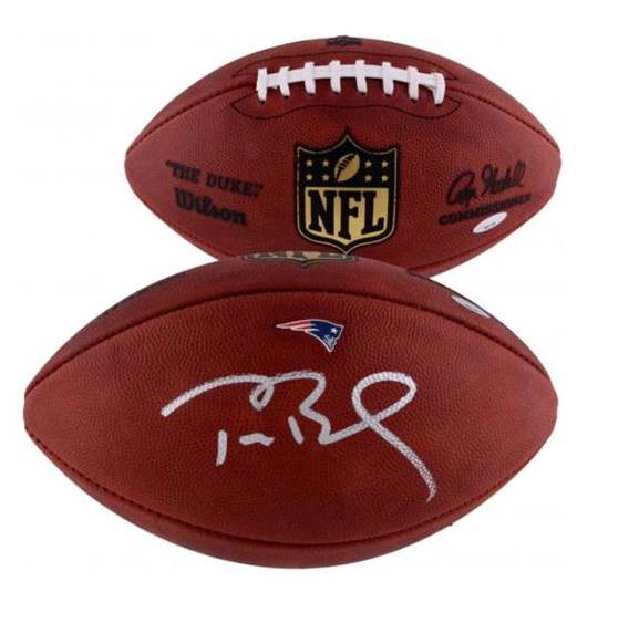 Tom Brady New England Patriots Autographed Pro Football - TRISTAR