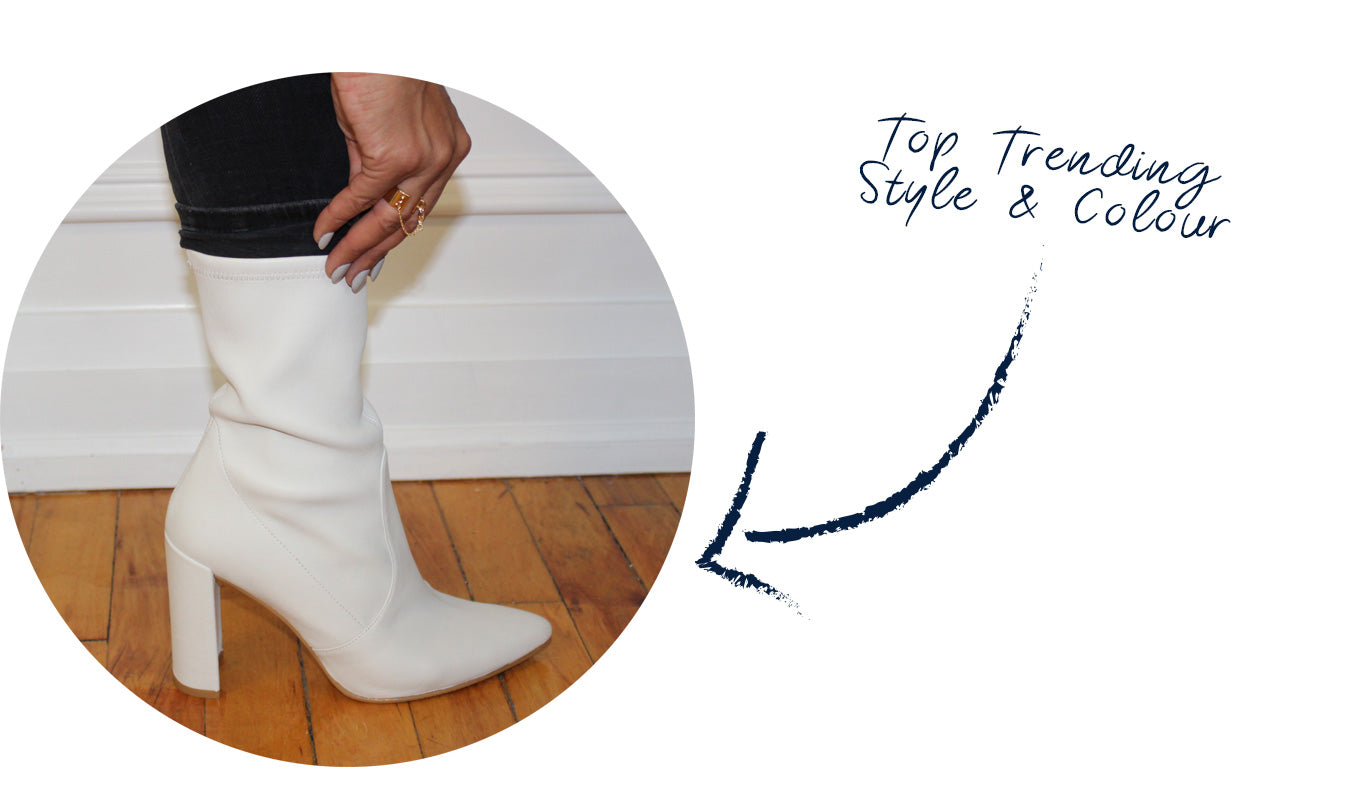 buy Stuart Weitzman White Cling boot