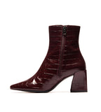 Lancaster Burgundy Croco Boot