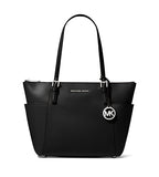 Jet Set East-West Top Zip Tote Black