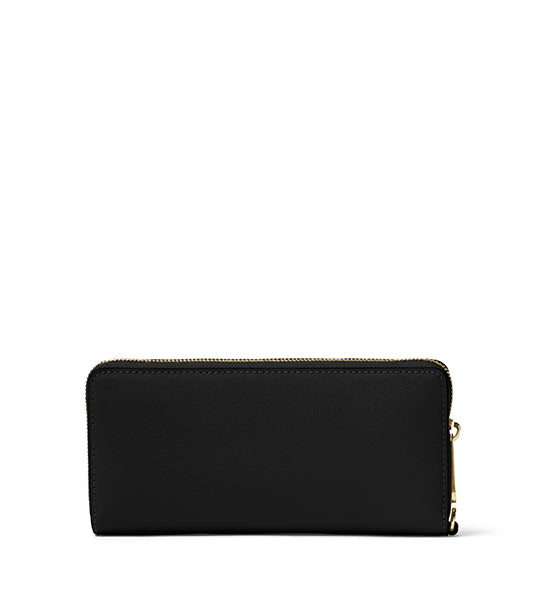Jet Set Travel Continental Wallet Black