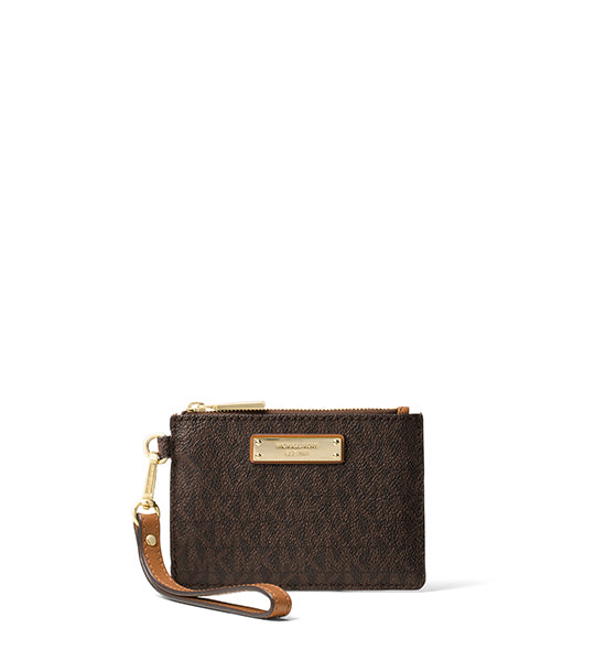 Jet Set Signature Small Coin Purse Brown