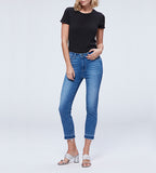 "Hoxton Slim Crop w 2"" Raw Hem Cuff - Shrine"