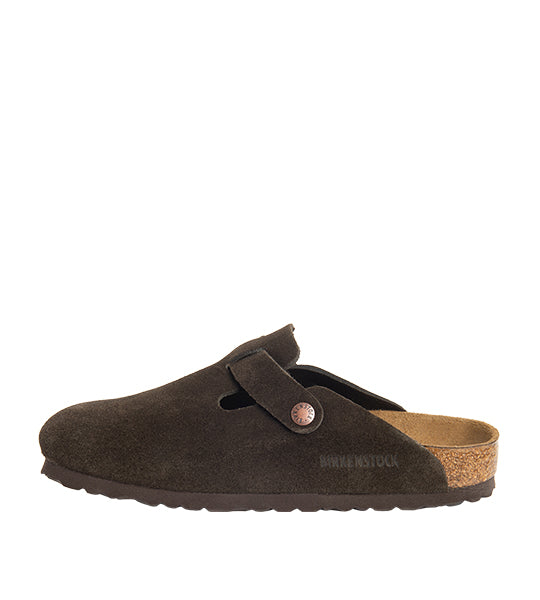 Boston Soft Footbed Mocha Suede