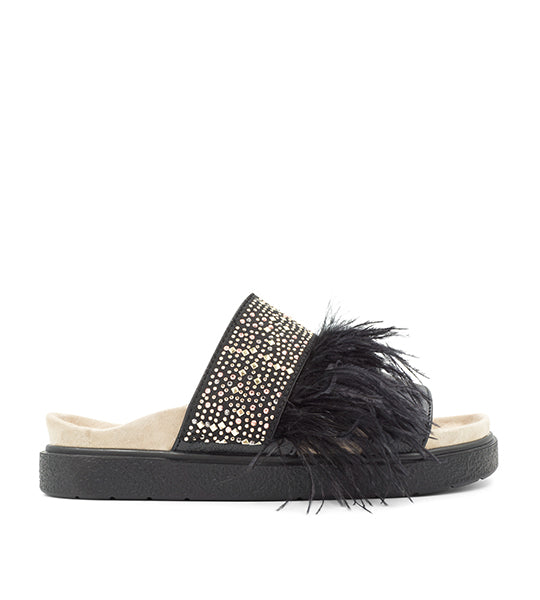 Feather & Studs Slide
