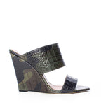 Camouflage Printed Croco Wedge