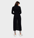 Long Cashmere Robe Black