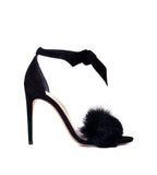 Clarita Fur Black